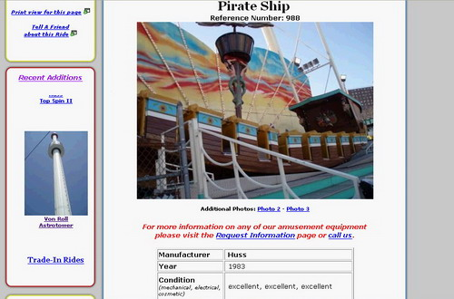 Pirate Ship Listing
