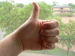 thumbs up by .nate