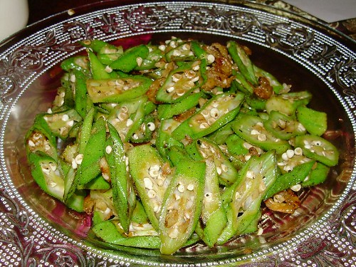 Stir Fried Ladies Finger with Dried Prawns