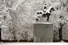 Statue - Bernardo de Gálvez in the Snow - 2-25-07