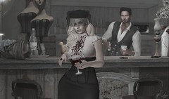 A Bar Between Us (Broderick Logan) Tags: bar drinking wine alcohol vintage photography friends secondlife second life virtual avatar