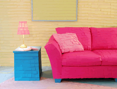 post-it-covered-couch-and-furniture