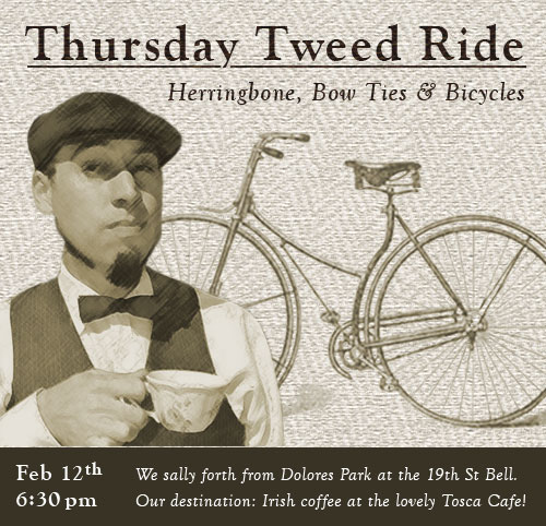 Inaugural Thursday Tweed Ride