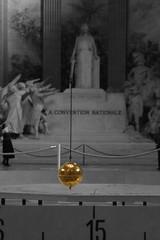 Proof! (Wave / Particle / Pixel) Tags: bw paris gold movement globe pantheon experiment physics rotation mechanics oscillation foucaultspendulum selectivecoloring