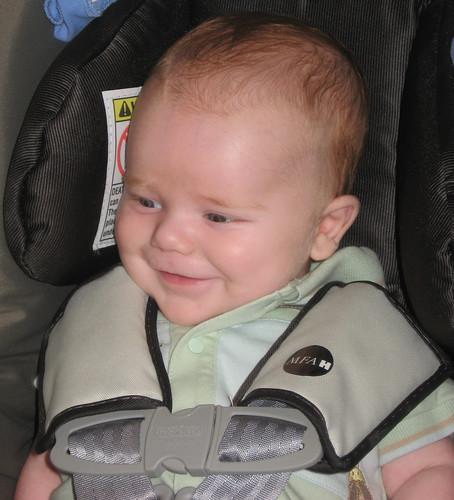 Thomas smiles!