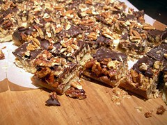 Chocolate-glazed toffee bars