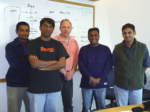 Sahana Team meetup with Sir Tim Berners Lee, inventor of the WWW, at MIT, U.S.A