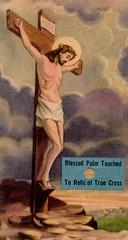 Relic of the True Cross (Orchard Lake) Tags: saint catholic relic holycard truecross