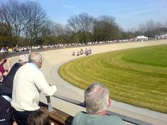 Keirin racing at Herne Hill velodrome