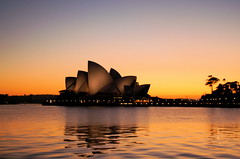 Sydney Opera House at dawn (Greg Adams Photography) Tags: trip morning travel light vacation holiday tourism water dawn harbor harbour oz sydney australia landmark icon sp operahouse downunder daybreak 2007 sydneyoperahouse selectedasthebest spselection abigfave hhsc2000 dopplr:explore=sq51