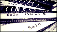 Le vite degli altri (pierofix) Tags: blue bw white cinema tickets blu violet style 169 viola bianco udine biglietti scritte cinecity pradamano udot