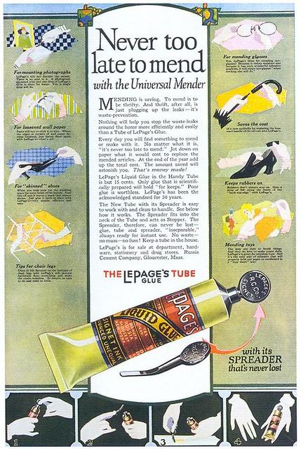 LePage's Tube Glue, 1919
