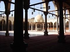 Di dalam Masjid  Amr ibn al-A'as, Kaherah, Mesir
