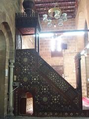Minbar, Khanqah of Sultan al Ashraf Barsbay (1432) (helen_romberg) Tags: architecture egypt mosque historic cairo cityofthedead minbar islamiccairo northerncemetery amribnalas