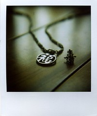 accessories marco (Jersey Yen) Tags: wood macro polaroid necklace afternoon earring taiwan ground micro accessories tainan magnifier inmyroom myeverydaylife sx70sonar diyndfilter