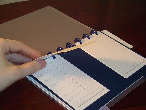 Lateral Lists : 3x5 notecards in a Circa notebook