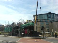 Builders Have a (Wrecking) Ball (woodstocktaylor) Tags: architecture buildings scotland edinburgh demolition builders buildingsite tollcross buildingworks fatsams fountainbridge scottishwidows