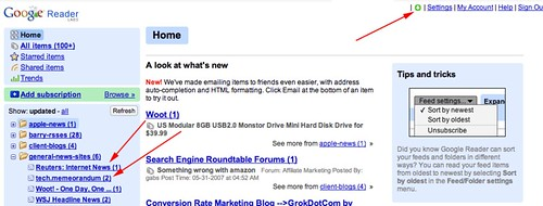Google Gears with Google Reader