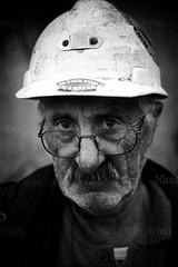 Miner-(8) (Nicola Okin Frioli) Tags: sardegna portrait italy portraits photography italia sardinia fotografia ritratto miner miners wwwokinreportnet nicolaokinfrioli minatori minatore buggerru piùnerochebianco