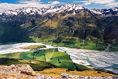 Humboldt Mountains (Daniel Murray (southnz)) Tags: newzealand mountain river landscape nationalpark scenery nz southisland alfred glenorchy mountaspiring dartriver mountalfred mtalfred southnz eos50escanfromprint