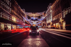 Christmas Trails (Alex Chilli) Tags: london regentstreet westend oxfordstreet picadilly carnaby lights christmas taxi lighttrails night photography nighttime afterdark evening winter canon eos 70d