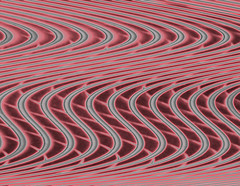 Abstract Grille in White & Red No.1 (Semi-detached) Tags: red white abstract lines riley neon geometry diagonal bridget grille superaplus aplusphoto