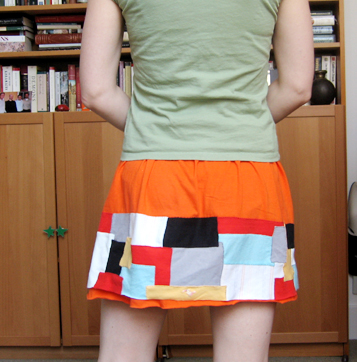 Orange & mod skirt (back)