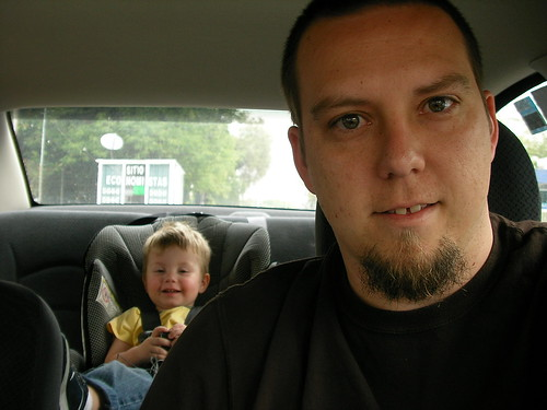 Nathan and Daddy in the car
