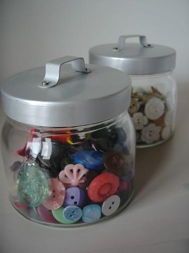 Vintage Button Jars
