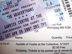 impending fun (ceci un matt) Tags: tickets memphis weakerthans apostleofhustle