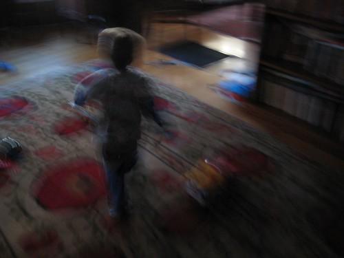 Small child, fleeing