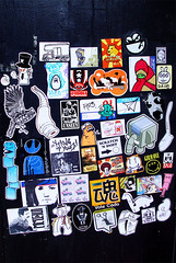 Billi-kid KILLS! (Question Josh? - SB/DSK) Tags: streetart dave mono sticker stickers style josh stove cdamage worms ako
