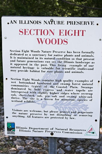 Section 8 Woods Sign