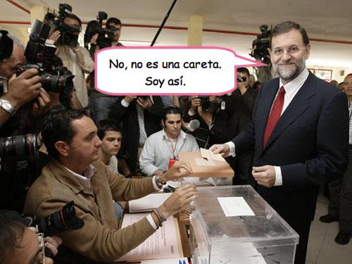 Rajoy con cara de pringao