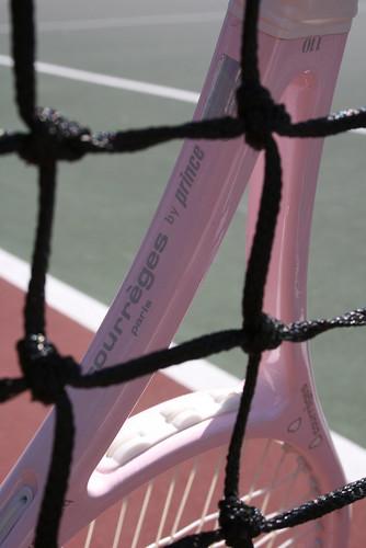 ピンクのラケット