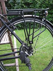 Gepäckträger und Ex-Fahrradständer