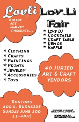 lov.li craft fair this Sunday!