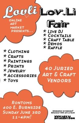 lov.li craft fair this Sunday!