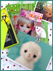 May Blythe swap - /Sent (Hailey Kitten) Tags: cute skulls handmade swap kawaii lamb goodies blytheswap diyjewelry 5swopclub petitbabie 5swopclubforblythefans petitbabienecklace