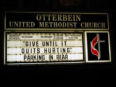 Give Until It Quits Hurting: Parking in Rear (taberandrew) Tags: church sex virginia butt anal rear va churchsign christianity methodist methodism rearentry unintentional whoops harrisonburg lulz analsex chocolatestarfish mmhmmm poopsex buttseks harrisonburgcity accidentallyhilarious