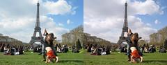 3D Eiffel Tower (3D shoot) Tags: paris france tower stereoscopic 3d eiffel stereo parallel 3dshoot
