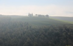 沉默 Silence ~ Fog && the Chapel of the Madonna di Vitaleta  ,  Tuscany  ( Toscana ) , Italy  托斯卡尼   ~ (PS兔~兔兔兔~) Tags: travel trees sky italy sun sunlight house holiday color tree green nature field grass yellow horizontal comfortable clouds canon landscape outdoors photography florence cozy corn europa europe italia european day afternoon wheat slide nopeople farmland unesco worldheritagesite growth val tuscany fields cypress siena prairie pienza sangimignano toscana valdorcia grassland range rollinghills cypresstrees scenics nationalgeographic whs cretesenesi agriturismo 義大利 seaofclouds tranquilscene dorcia weat 佛羅倫斯 traveldestinations colorimage 田園風光 beautyinnature sanquiricodorcia 托斯卡尼 latoscana 世界文化遺產 etruscancivilization 平流霧 thecypressgroove medicivillasandgardens