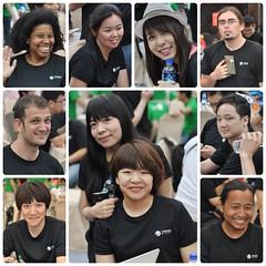 (Danburg Murmur) Tags: woman man hat mosaic taiwan tshirt smartphone mobilephone colleagues taipei   waterbottle   trendmicroengineeringday hackingtriathlon
