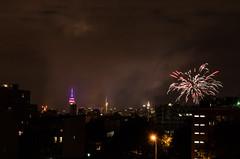 DSC_0012 (theduckmanz) Tags: city nyc newyorkcity summer newyork skyline brooklyn night nikon fireworks eastriver july4th d5100 nikond5100