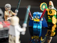 Obi Wan and Luke vs Sith Lord Sponge and Darth Patrick (Gven Gl) Tags: toy starwars lego luke patrick spongebob obiwan minifigure minifigures gh3 sigma60mm lumixgh3