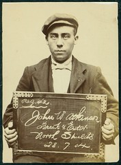 John William Atkinson, arrested for breaking and entering (Tyne & Wear Archives & Museums) Tags: portrait cakes interesting chocolates historic criminal crime cap sweets mugshot unusual policestation prisoner northshields imprisoned northtyneside breakingandentering shopbreaking grandparadetynemouth maynardltd