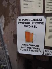 1 liter of beer - 2 euro's!