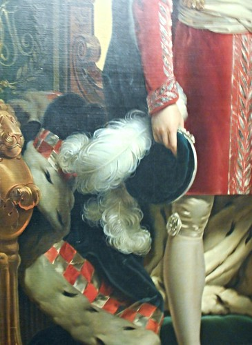 """Joachim Murat with collar of Order of Two Sicilies"" (Detail) - copy from François Gérard (Rome 1770-Paris 1837) - Private collection, now at exhibition on Joachim Murat at Royal Palace of Naples, up to October 18, 2015"