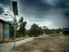 Thurgoona Solar Panel (2007) (heritagefutures) Tags: street light bird campus for design solar university panel charles integral housing spikes sturt alburywodonga thurgoona