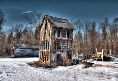 Cold Remnants (stevegilliesphotography) Tags: old winter barn barns canadiana winterscape settlements periodhomes barnbarnscanadianaperiodhomes